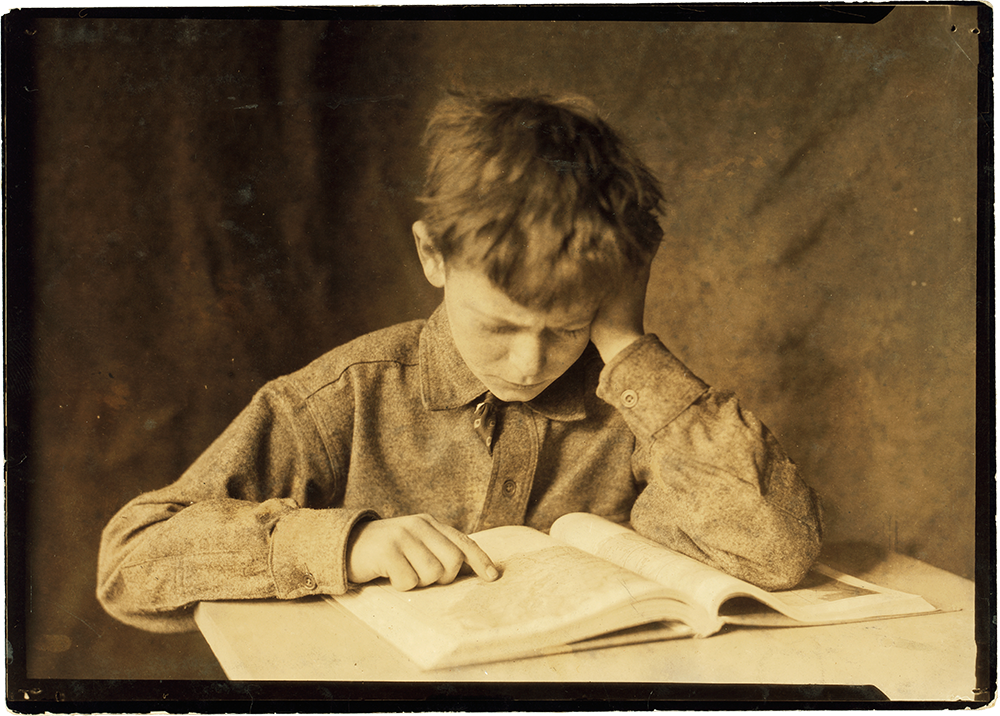 Lewis Hine, Boy studying ca. 1924
